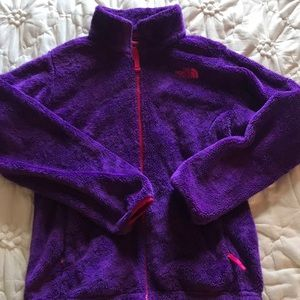 PURPLE FUZZY NORTHFACE JACKET